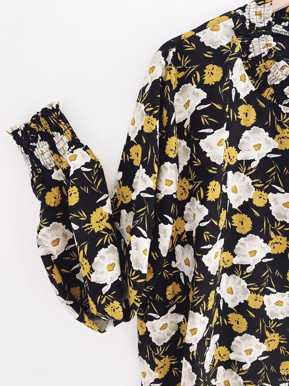 """Permission To Bloom"" floral blouse"