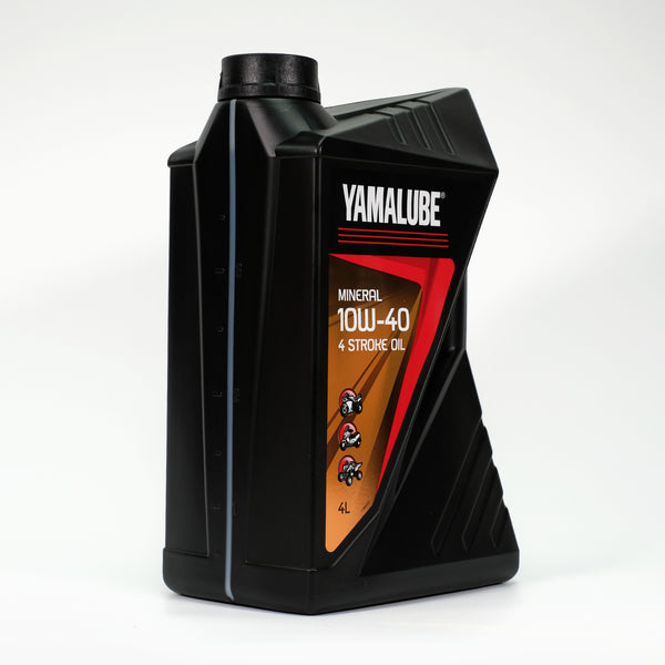 Yamalube 10W-40 4 Stroke Mineral Oil - 4 Litres-Alf England