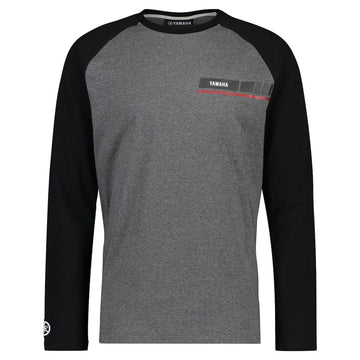 REVS Men's Long Sleeved T-Shirt Grey/Black