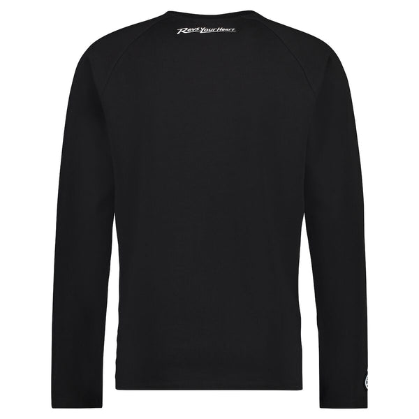 REVS Men's Long Sleeved T-Shirt Black-Alf England