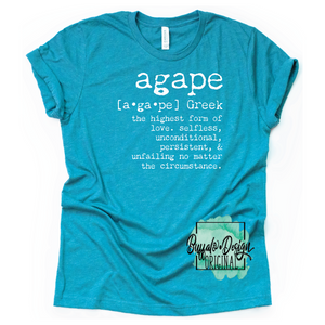 Agape Definition - RTS Screen Print Transfer