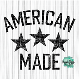 American Made - RTS Screen Print Transfer