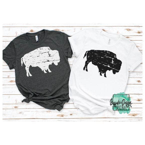 Rustic Buffalo Mascot - RTS Screen Print Transfer