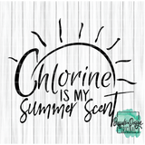 Chlorine is my Summer Scent - RTS Screen Print Transfer