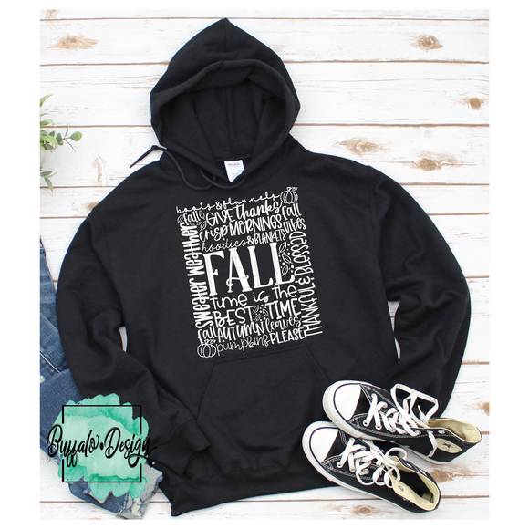 Fall Sayings Typography - RTS Screen Print Transfer