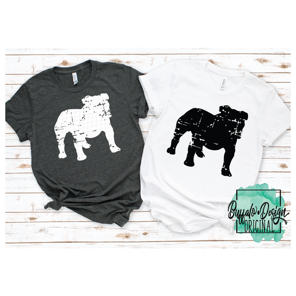 Bulldog Mascot - Full Body - RTS Screen Print Transfer