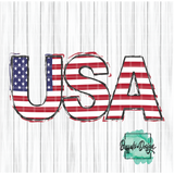 USA with Flag Print - RTS Screen Print Transfer