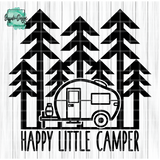 Happy Little Camper - RTS Screen Print Transfer