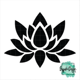Lotus Flower - RTS Screen Print Transfer