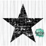 Rustic Star - RTS Screen Print Transfer