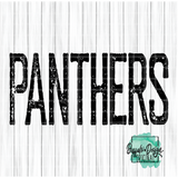 Rustic Panthers Mascot Wording - RTS Screen Print Transfer