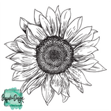Sunflower - Adult Youth Toddler - RTS Screen Print Transfer