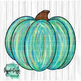 Teal Colorful Pumpkin - RTS Screen Print Transfer