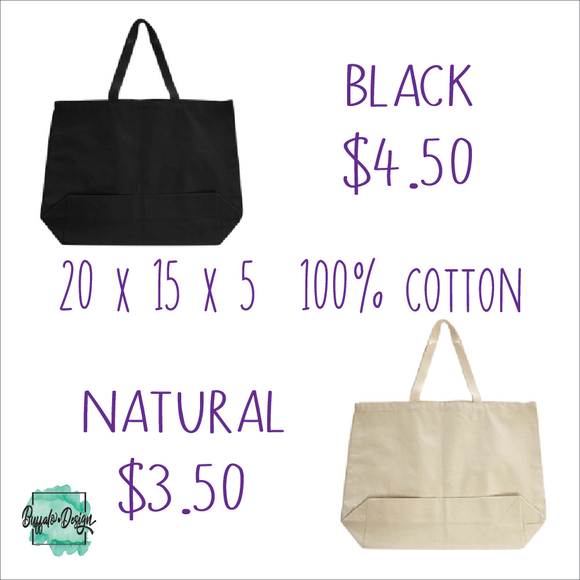 Blank Large Cotton Tote Buy-In