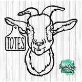 Totes Ma Goat - RTS Screen Print Transfer - Adults Youth Toddler Infant