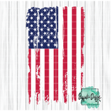 Distressed US Flag *Vertical* - RTS Screen Print Transfer