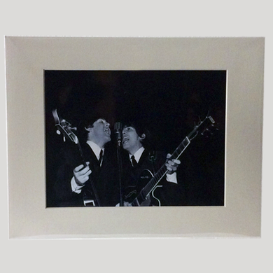 Paul McCartney and George Harrison Print