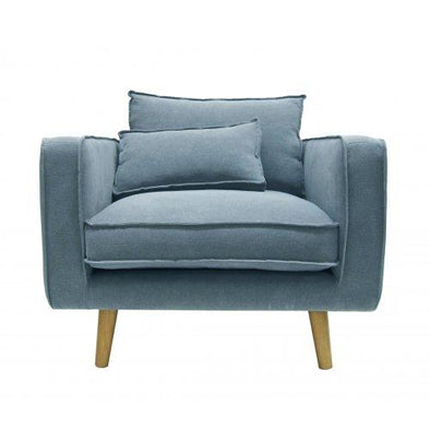 George Arm Chair Slate Blue linen