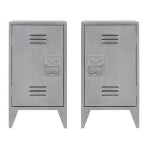 Nightstand gray (set of two)