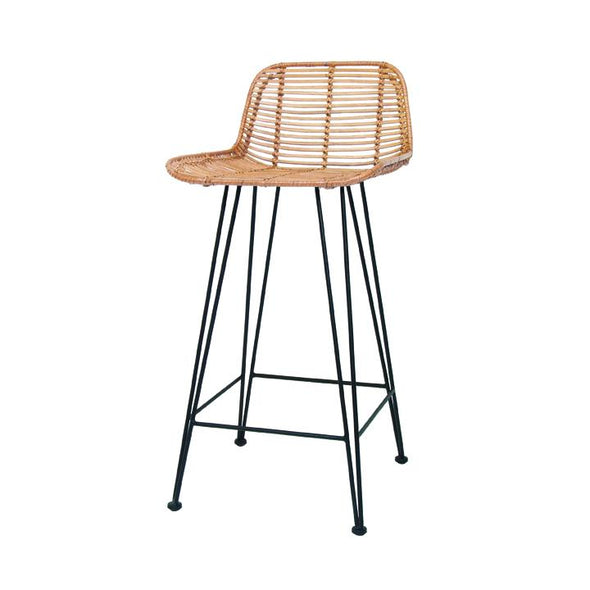 Rattan bar chair natural