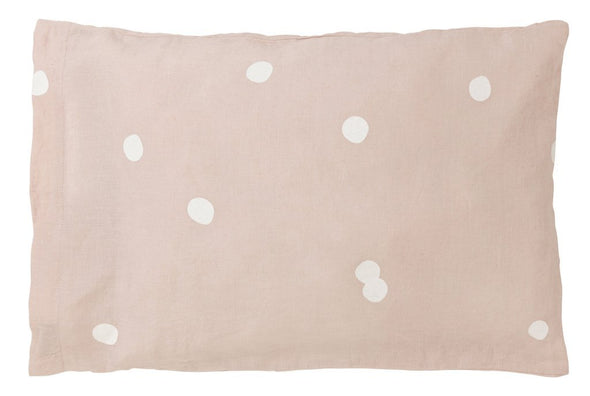 Belgian Linen Quilt Cover - Blush Happy