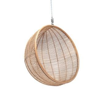 Rattan hanging chair ball natural