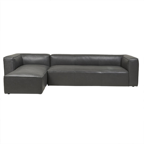 Bogart Cube Left Chaise Grey