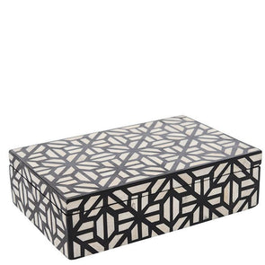 Bone Inlay Box - Modern Geometric