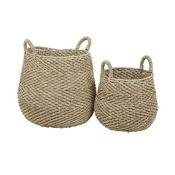 Arabella Chevron Set of 2 Baskets