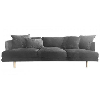 Cody Sofa Dark Grey Velvet