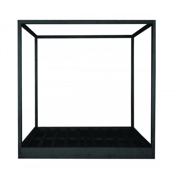 Cubic 4 Post Bed Black