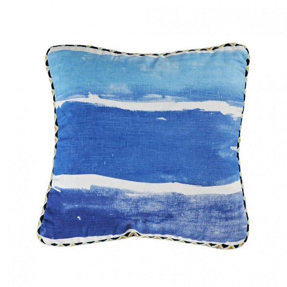 Cushion Watercolour Stripe Blue