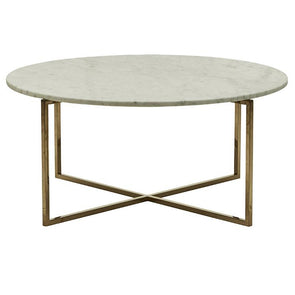 Elle Luxe Marble Round Coffee Tables