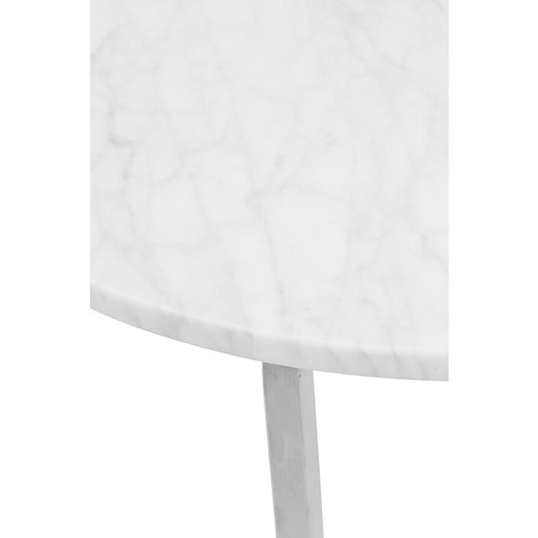 Elle Luxe Marble Round Side Table