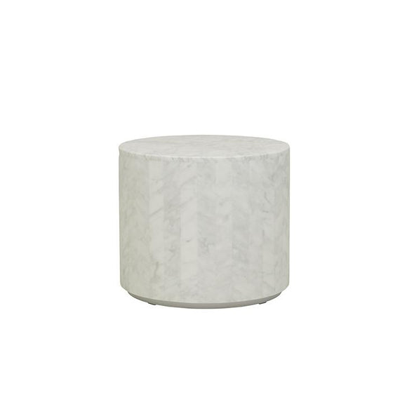 Elle Round Block Side Table