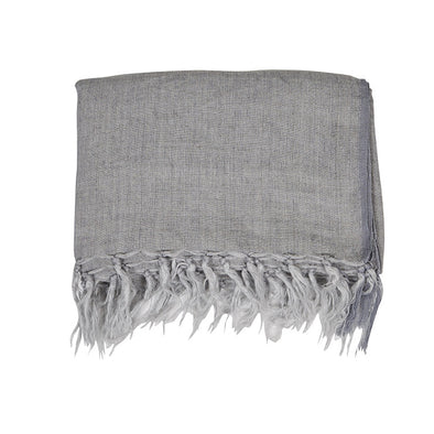 Evie Linen Throw Grey