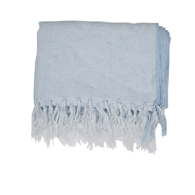 Evie Linen Throw Pastel Blue
