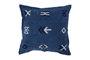 Hieroglyphic Cushion Indigo With Inner
