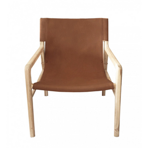 Jasper Chair Dark Tan Leather
