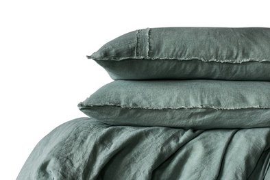 LINEN DUVET SET SEA MIST