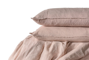 LINEN DUVET SET SOFT PINK