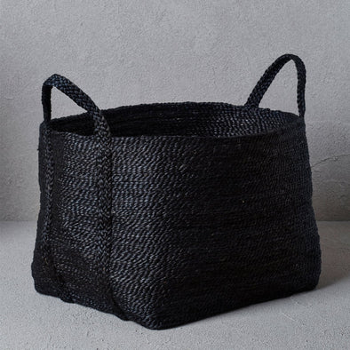 Large Jute Basket - Charcoal