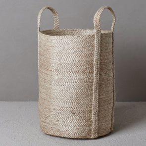 Laundry Jute Basket - Natural