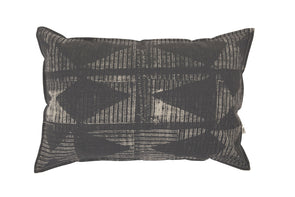 Lil Patched Cushion Nat/Black With Inner