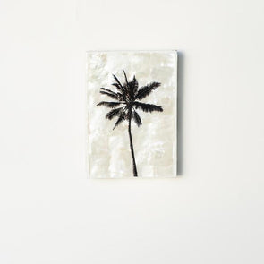 Single Palm Shell Mini Tile