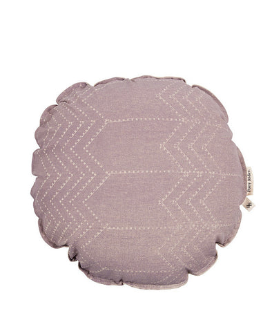 Running Bear Round Cushion Mauve With Inner