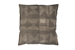 Patched Cushion Charcoal/Nat With Inner