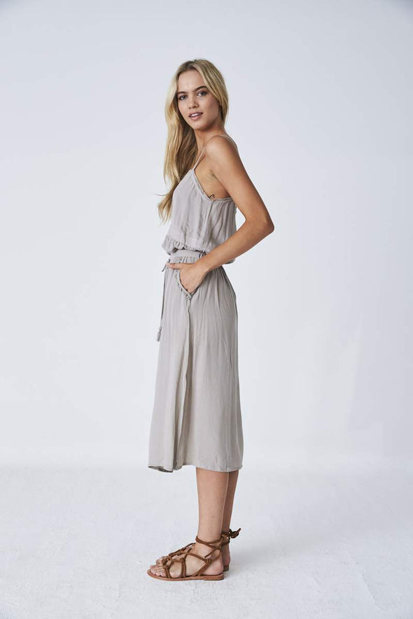 Prita Split Skirt - Silver Cloud