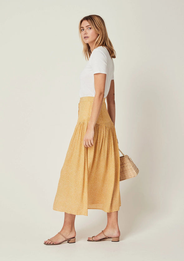 Tear Drop Brooks Midi Skirt Golden Sand