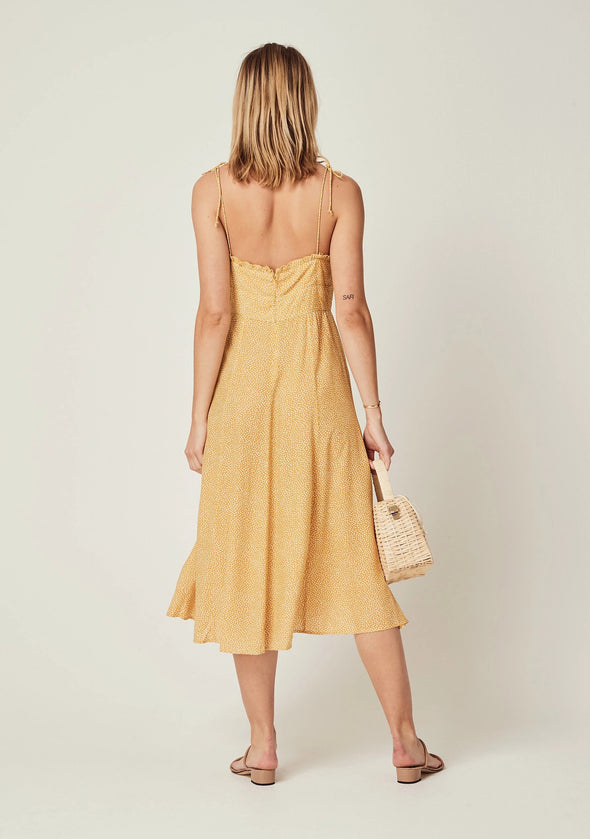 Tear Drop Juliette Midi Dress Golden Sand